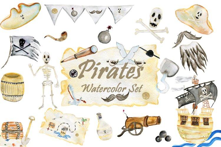 Pirates Watercolor Set.
