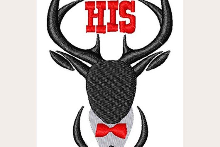 His Stag - Machine Embroidery Design