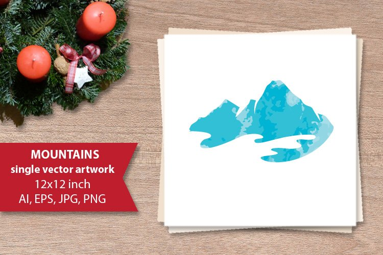 Mountains, SINGLE VECTOR ARTWORK example image 1