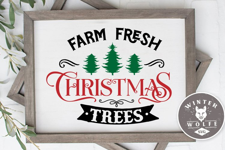 Farm fresh Christmas trees SVG EPS DXF PNG example image 1