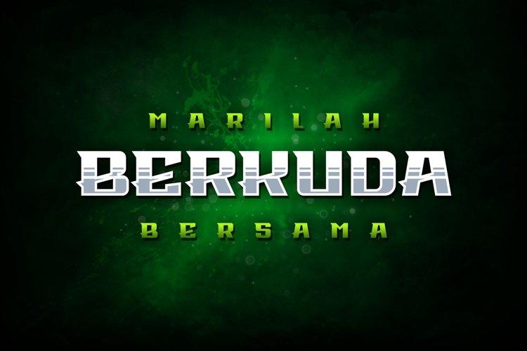 Berkuda Font example image 1