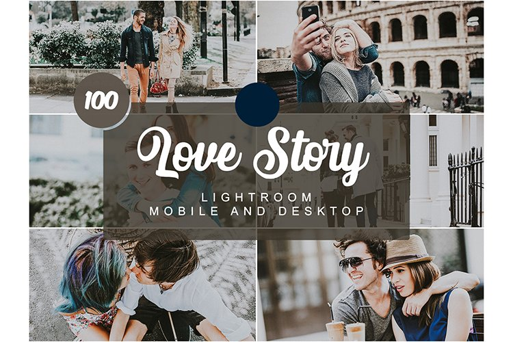 100 Love Story Mobile and Desktop PRESETS example image 1