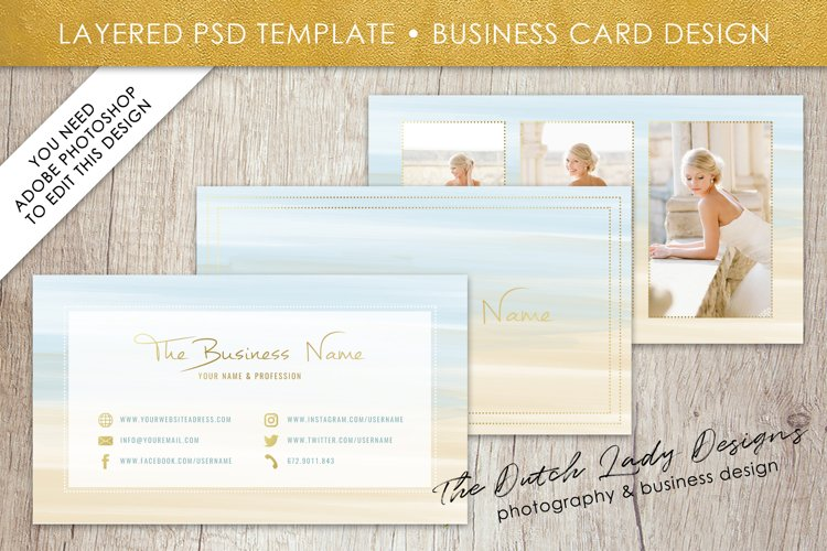 Business Card Template for Adobe Photoshop - Layered PSD Template - Design #8 example image 1