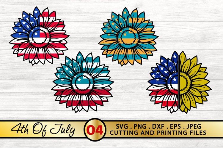 4th of July SVG Bundle Sunflower Bundle SVG PNG DXF EPS JPG example image 1