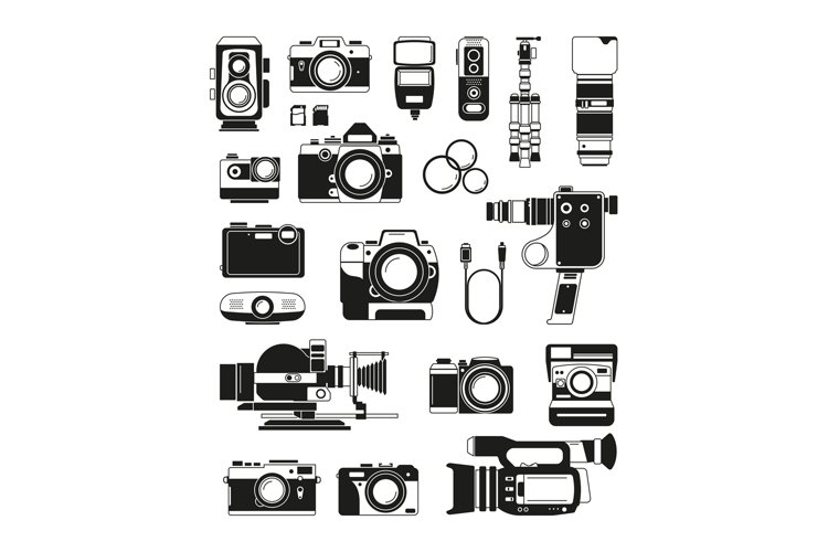 Video and photo cameras and different professional accessori example image 1