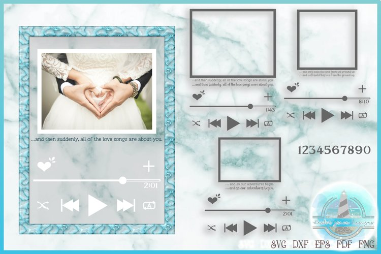 Music Player SVG   Acrylic Frame Song Art   Audio Player SVG example image 1
