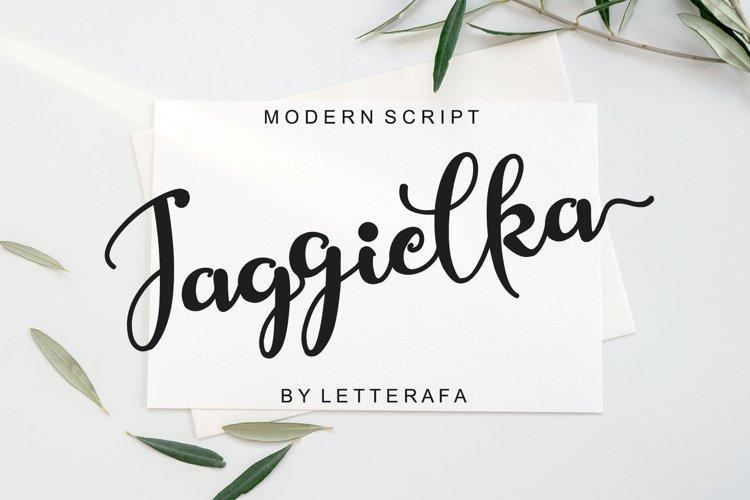 Jaggielka - Modern Script Font example image 1