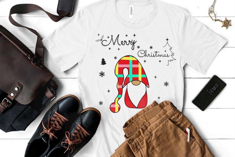 Noel Xmas SVG, Gnome, Merry Christmas, Kids Funny Christmas example image 1