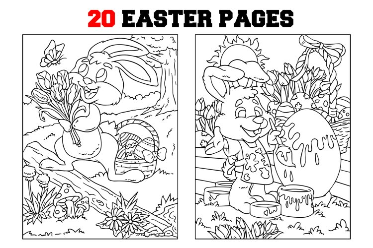 Coloring Pages For Kids - 20 EasterPages