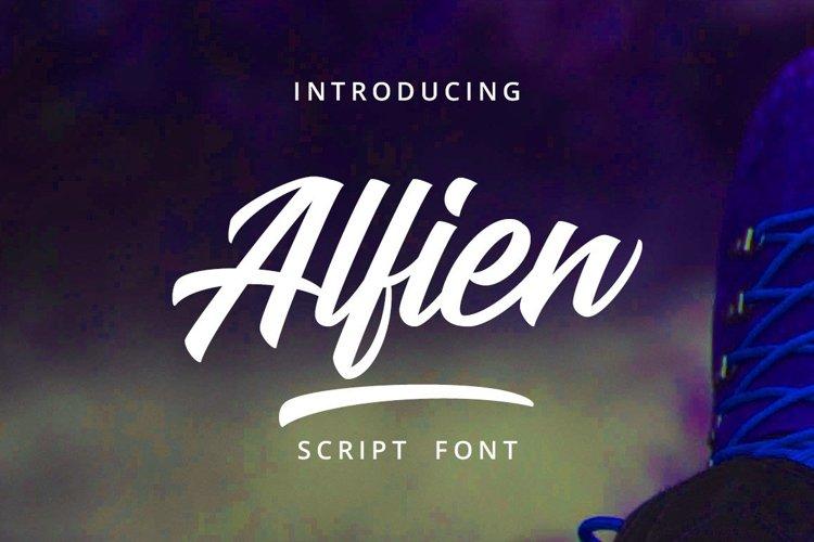 Web Font Alfien example image 1