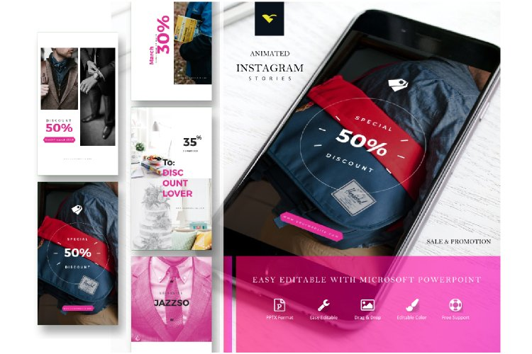 Instagram Story Template Sale Discount Series