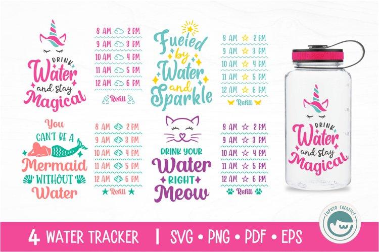 Unicorn / Mermaid / Fairy / Cat / Water Tracker SVG Cut File example image 1