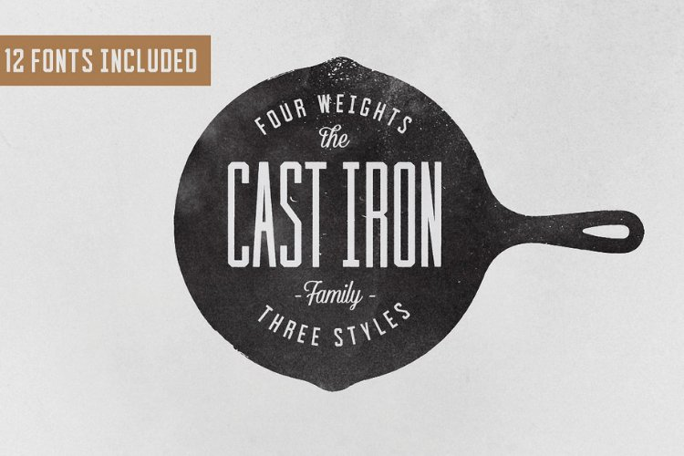 Cast Iron Family - Font example image 1