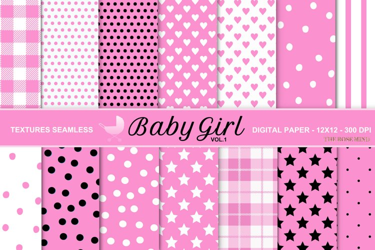 Baby girl, seamless texture, vol. 1