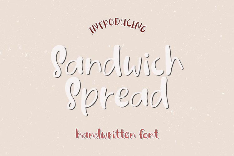 Sandwich Spread - A Quirky Handwritten Font example image 1