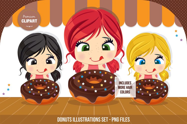 Donuts clipart, Sweets illustrations