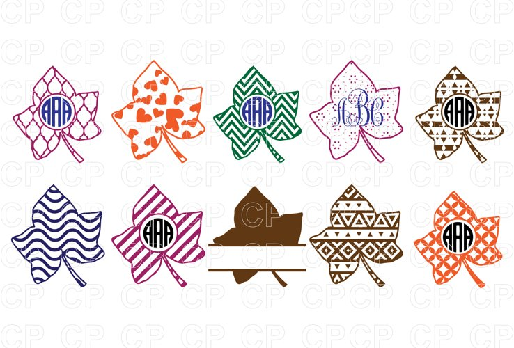 Fall Leaves Bundle SVG Cut Files, Fall Leaves Clipart
