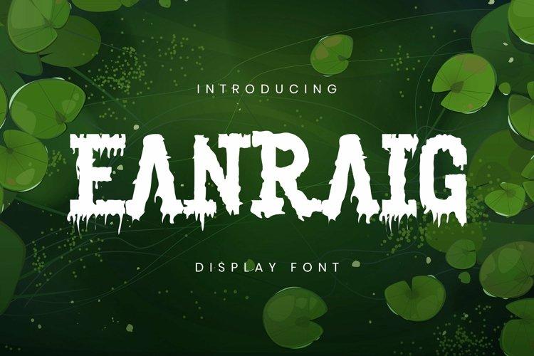 Web Font Eanraig Font example image 1