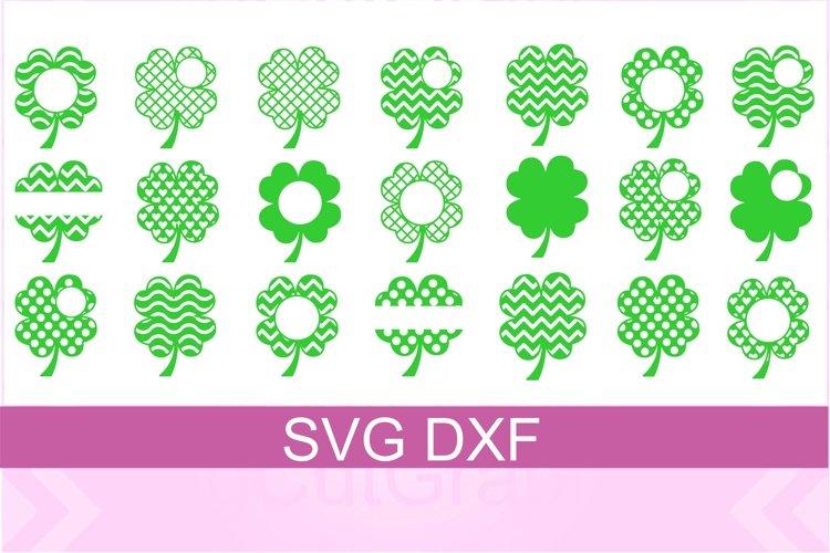 St. Patrick Shamrock SVG DXF Files example image 1