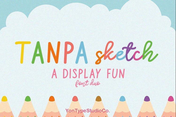 Tanpa Sketch Duo Font example image 1