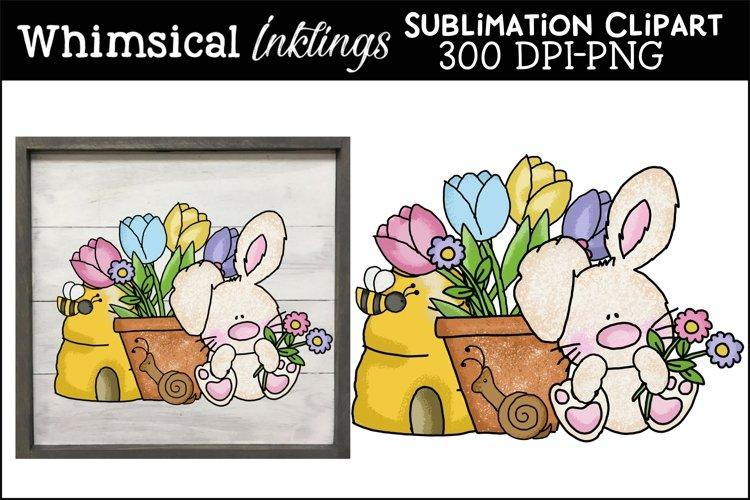 Little Spring Bunny Sublimation Clipart example image 1