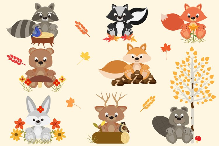 Fall Woodland Friends example image 1