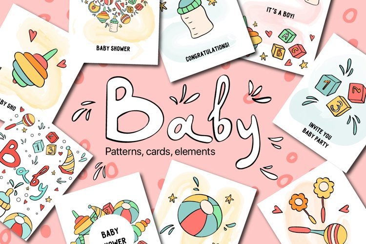 Baby cute vector collection example image 1