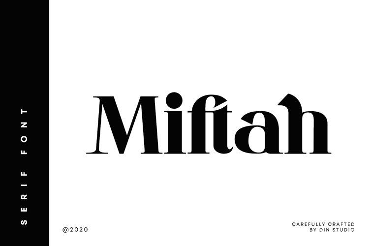 Miftah-Modern Serif Font example image 1