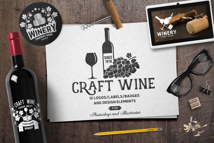 Craft Wine Templates example image 1