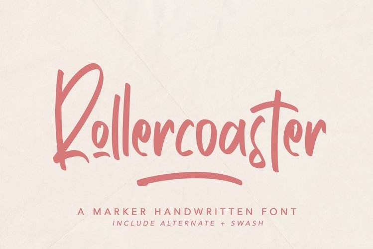 Rollercoaster - Marker Font example image 1