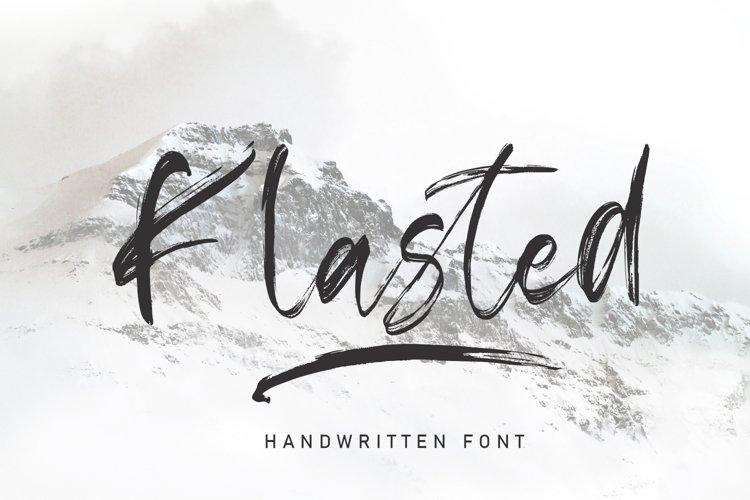 Klasted Brush Font example image 1