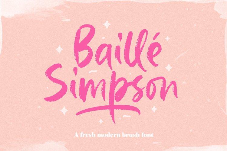 Baille Simpson - Modern Brush Script example image 1