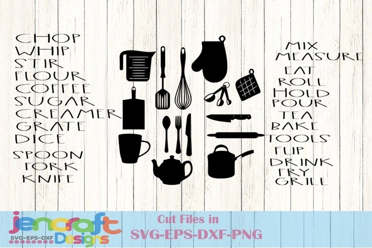 Dunn SVG inspired Country Kitchen labels, utensils svg, eps