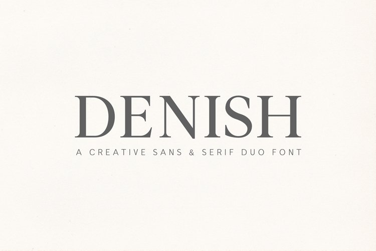 Denish Sans & Serif Duo Font Family example image 1