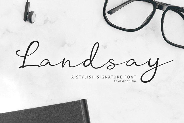 Landsay - Stylish Signature Font example image 1