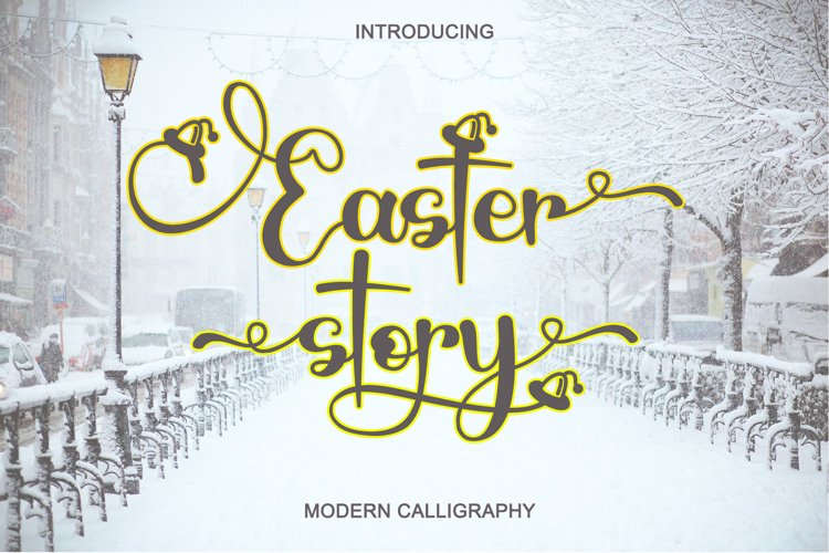 Easter Story - Modern Calligraphy example image 1