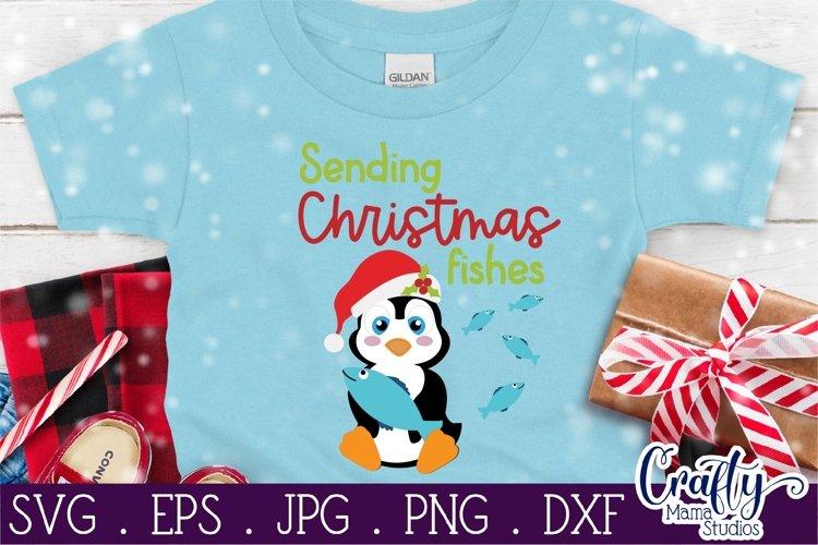 Christmas Svg, Animal Svg, Penguin Svg, Christmas Fishes example image 1