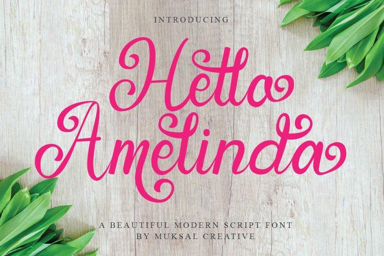 Hello Amelinda