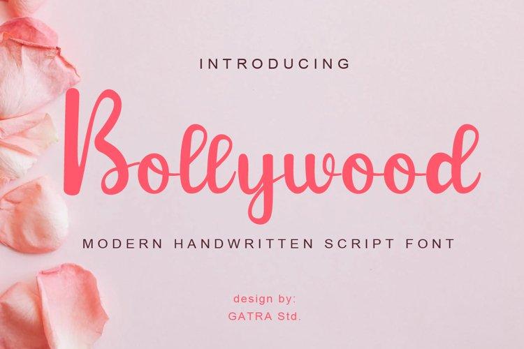 Bollywood Moden Handwritten Script Font example image 1