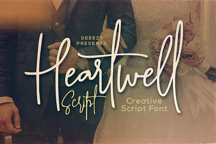 Heartwell Script Font example image 1