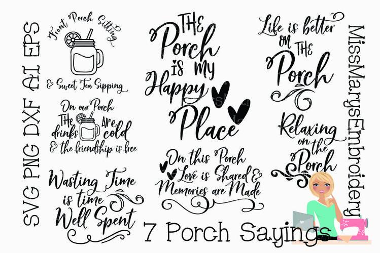 Porch Bundle SVG | Summer SVG | Porch SVG | Front Porch SVG