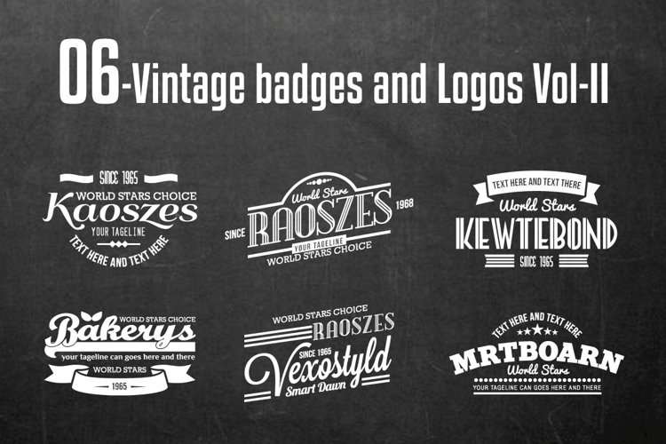Vintage Badges and Logos Vol-2