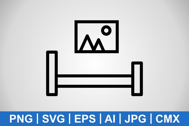 Vector Bed Room Icon example image 1