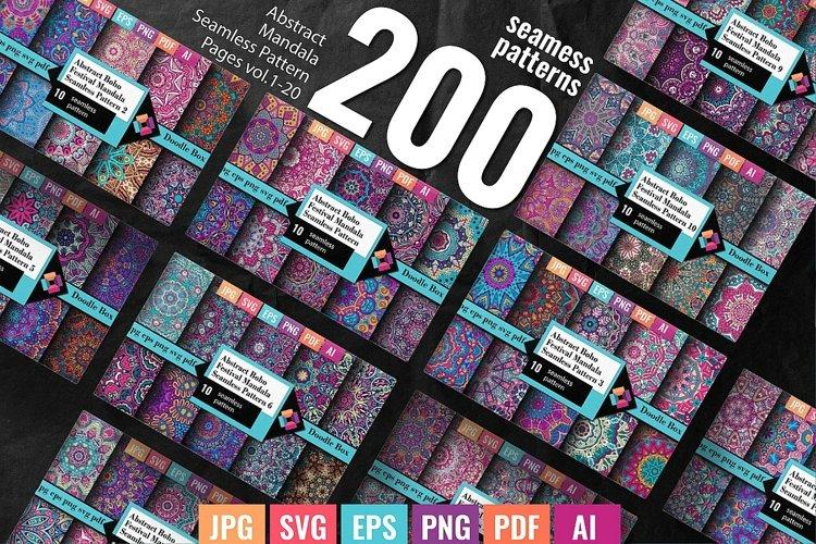 200 colorful abstract mandala patterns vol. 1-20 Mega Bundle