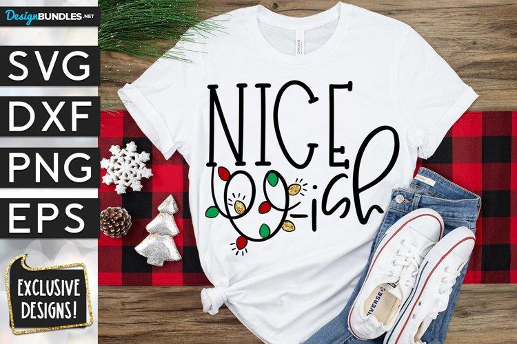 Nice-ish Christmas Lights SVG DXF PNG EPS