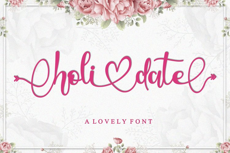 Holidate - A Lovely Font example image 1