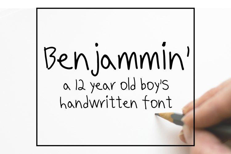 Benjammin' - Kid's Handwritten Font example image 1