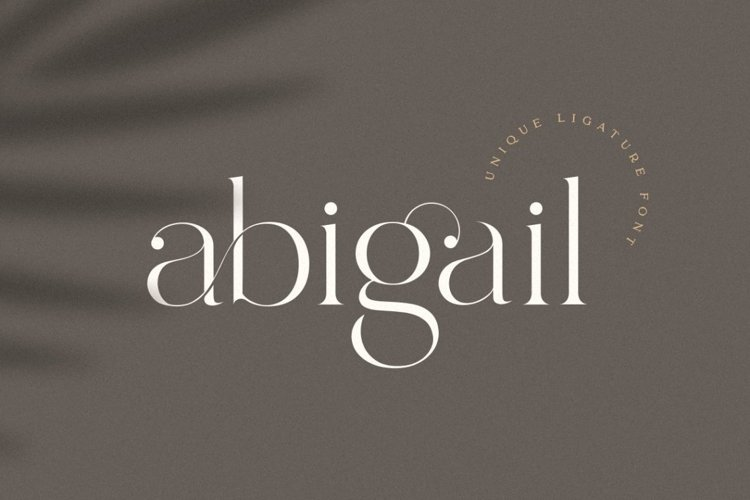 Abigail - Unique Ligature Font example image 1