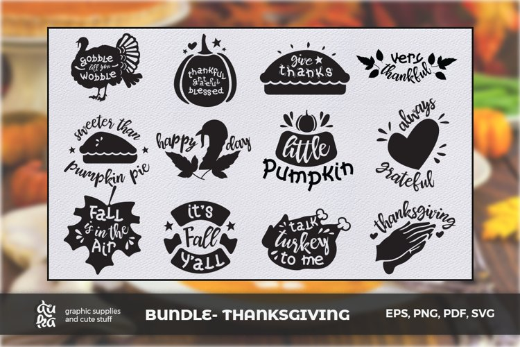BUNDLE- Thanksgiving SVG Cut Files
