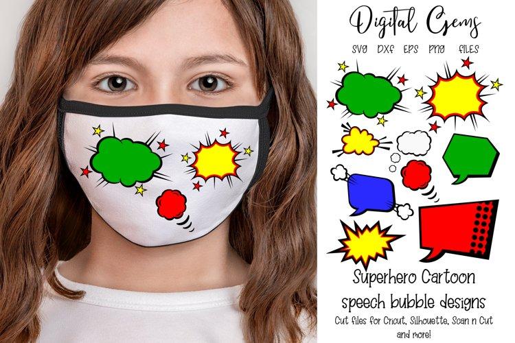 Superhero speech bubble designs, SVG / PNG / EPS / DXF Files
